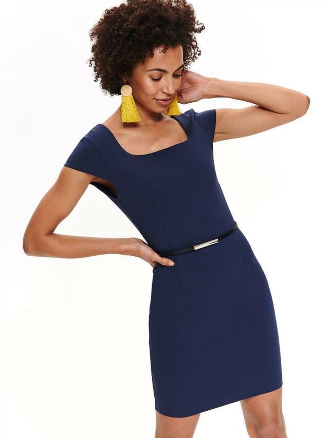 Top Secret Šaty dámské tmavě modré s páskem - 36