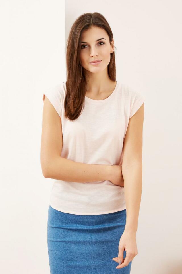 Moodo Triko dámské jednobarevné krátký rukáv - XS