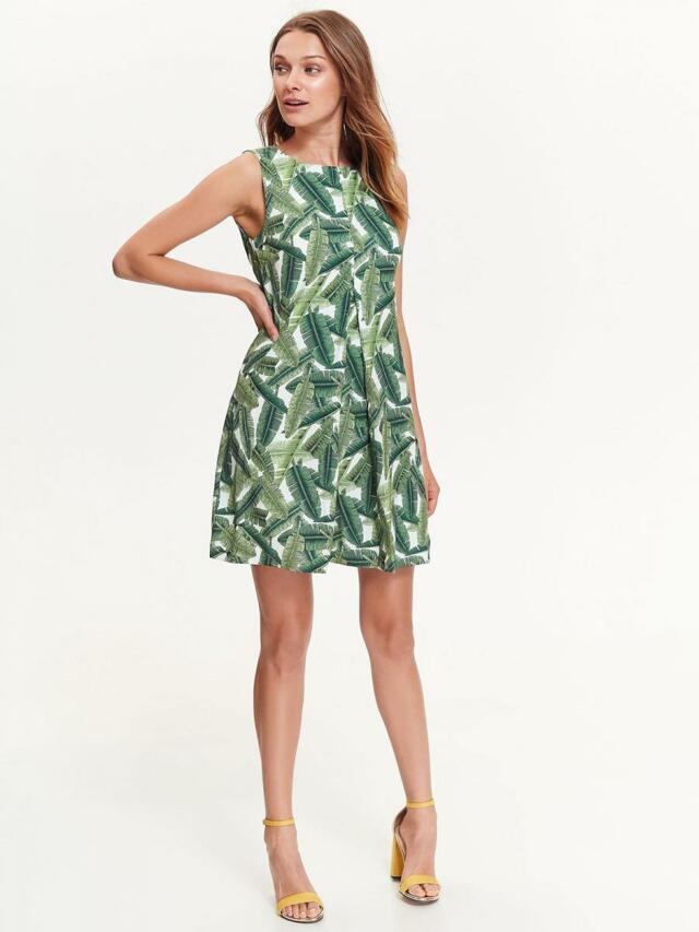 Top Secret šaty dámské zelené bez ramínek - 34