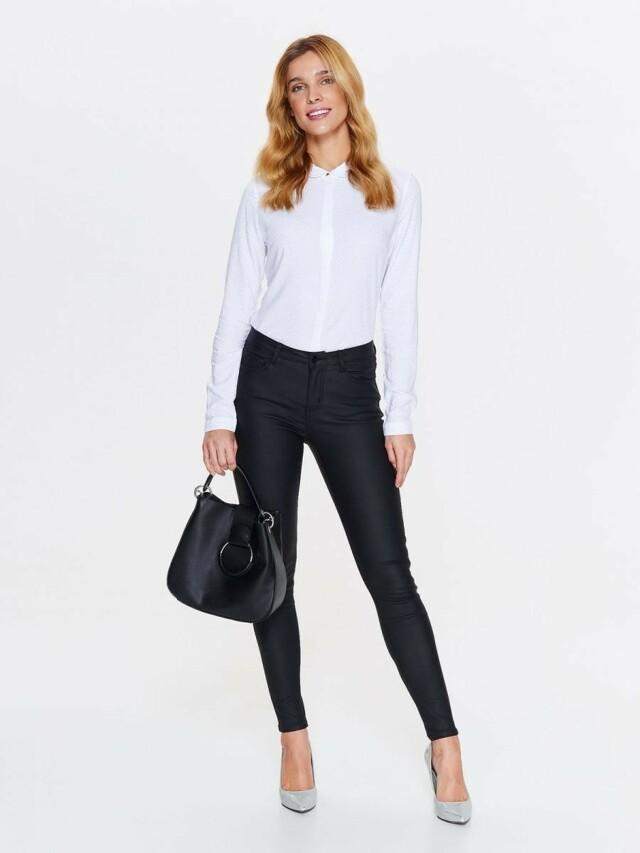 Top Secret Košile dámská bílá se vzorem a dlouhým rukávem