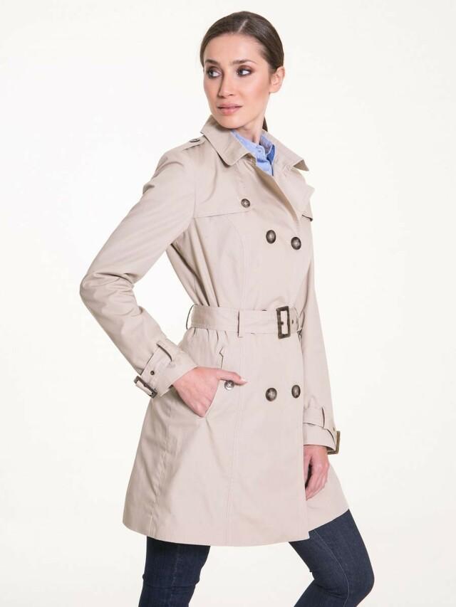 Big Star Kabát dámský MRONA jarní na knoflíky a páskem