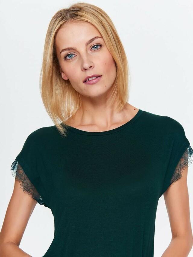 Top Secret Halenka dámská zelená s krátkým krajkovým rukávem