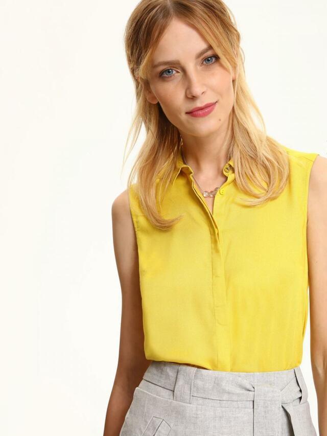 Top Secret Košile dámská žlutá na knoflíky - 34