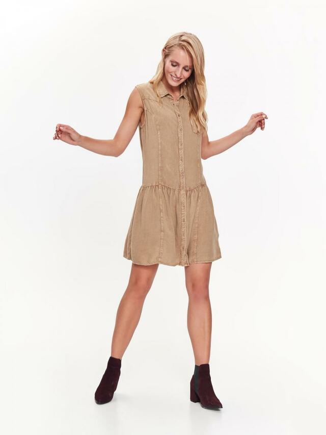 Top Secret šaty dámské béžové košilový střih bez rukávu - XS 95091cca479