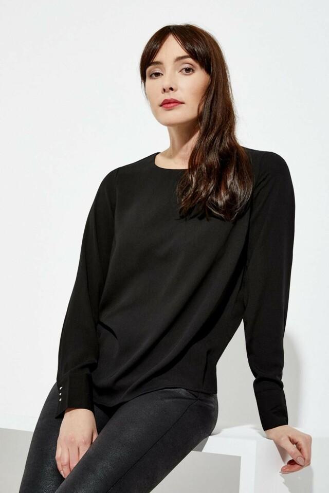 Moodo Košile dámská jednobarevná s dlouhým rukávem