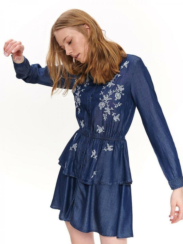 Top Secret Šaty dámské jeans s květinovým vzorem - 42