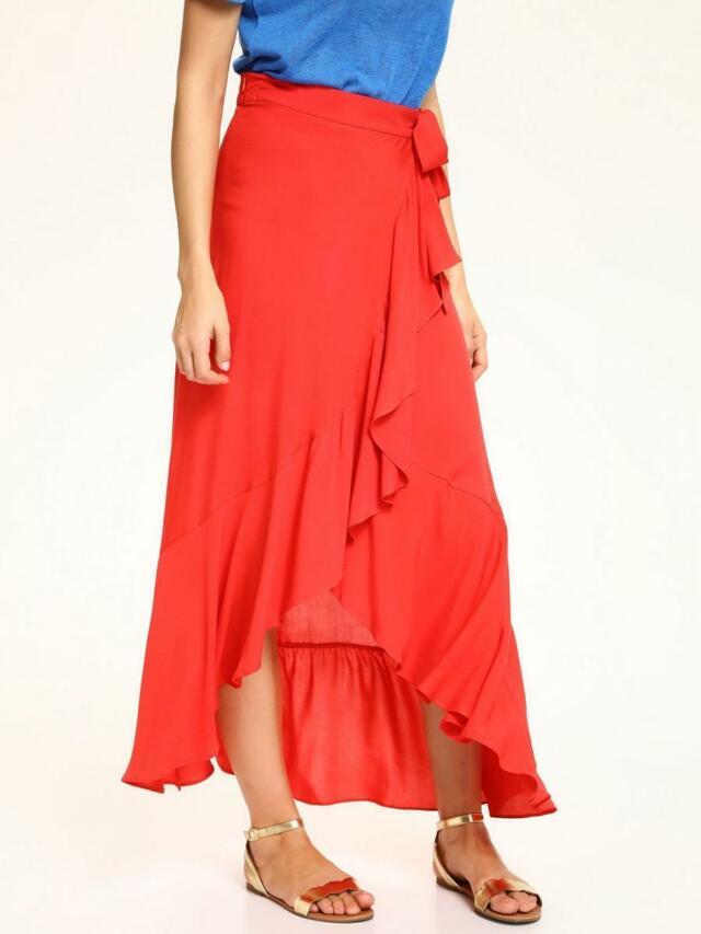 Top Secret Sukně dámská dlouhá červená se zavazováním - 40