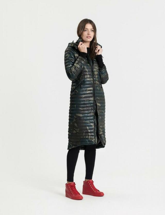 Diverse Kabát dámský LONGRETTA prošívaný s kapucí