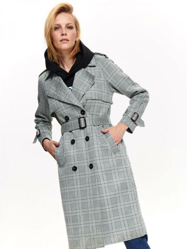 Top Secret Kabát dámský vzorovaný šedý - 40