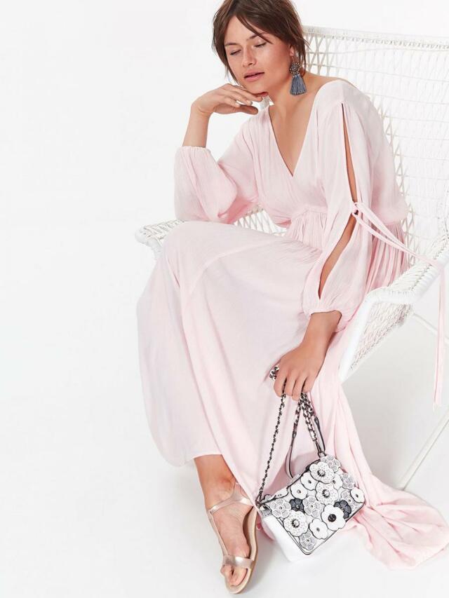 Top Secret šaty dámské dlouhé růžové