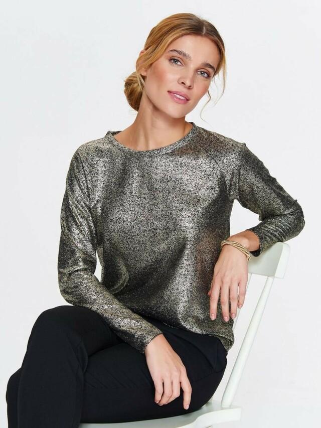 Top Secret Svetr dámský zlatý s dlouhým rukávem - 36 6fda3bd730