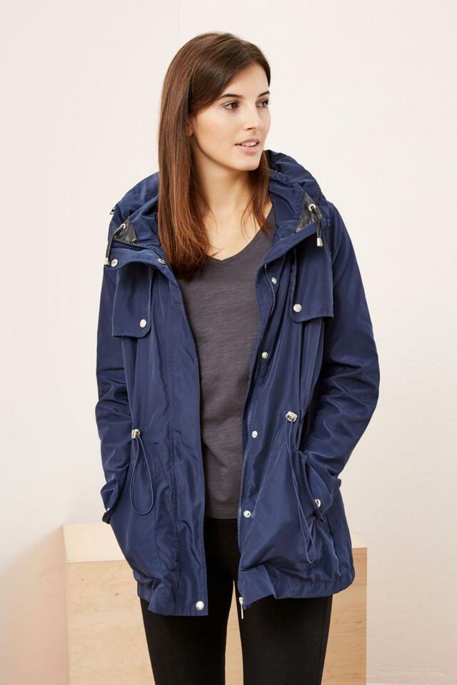 Moodo Bunda dámská s kapucí na zip a patenty - S