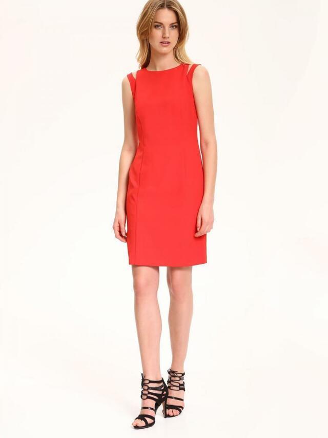 Top Secret šaty dámské červené s průstřihy na ramenou bez rukávu(437044) - 2 f0ef018a54d