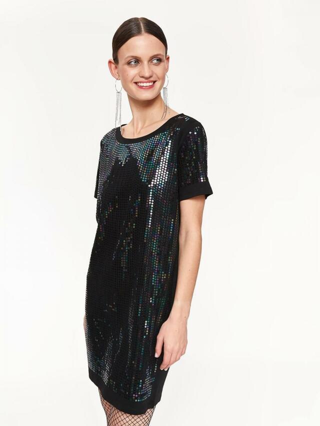 Top Secret Šaty dámské s flitry a krátkým rukávem - 38 b780769ddbf