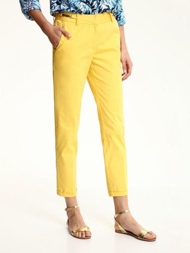Top Secret Kalhoty dámské žluté společenské - 34