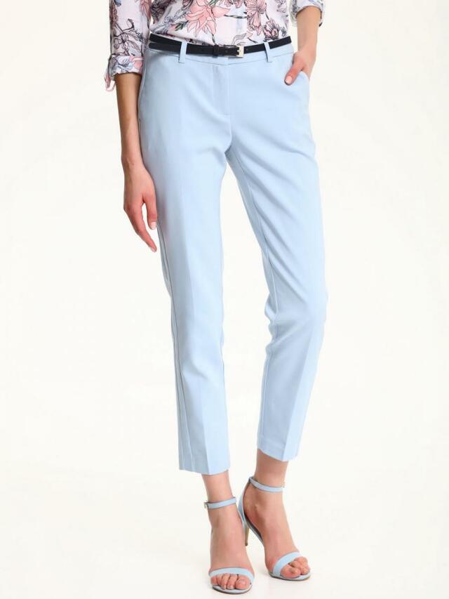 Top Secret Kalhoty dámské bledě modré společenské