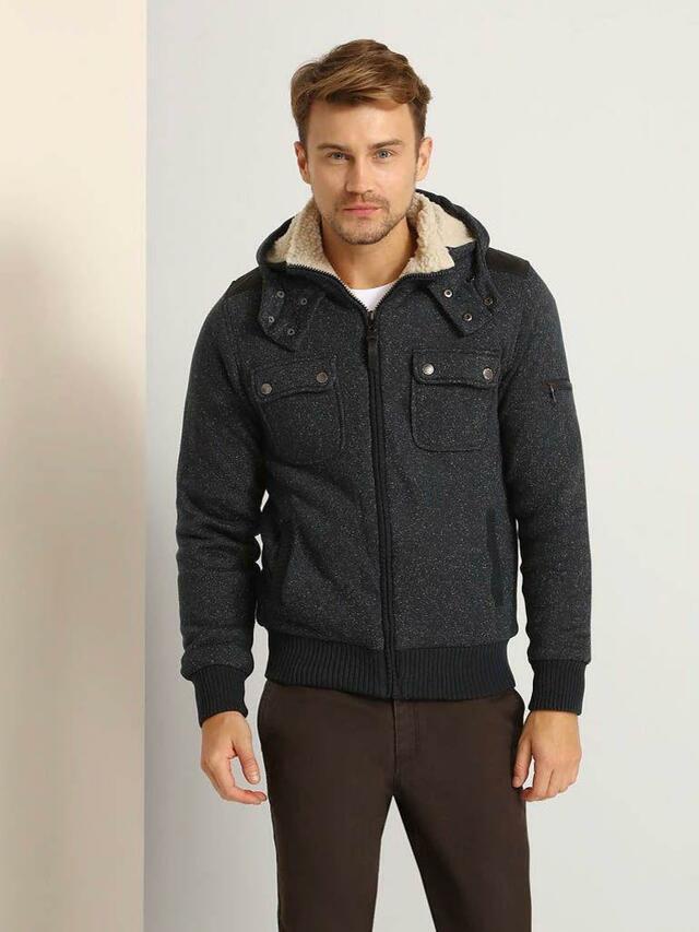 Top Secret Mikina pánská na zip s kapucí