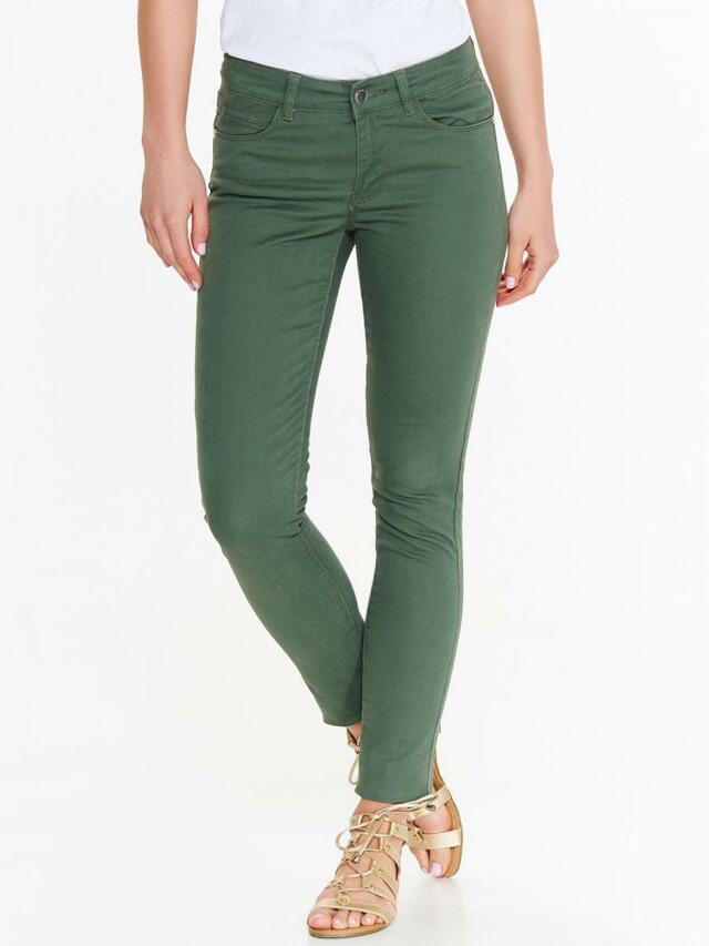 a69177807b9 Top Secret Kalhoty dámské zelené SLIM - 34