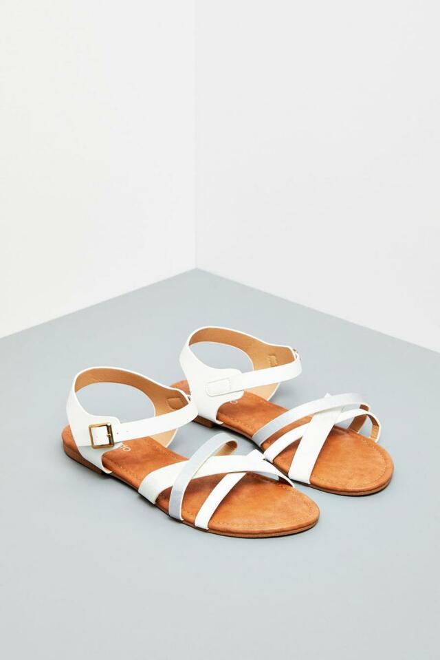 Moodo Sandály dámské bílé - 37
