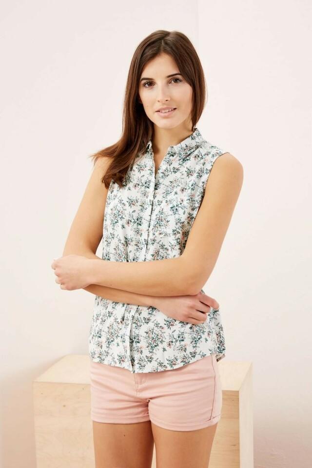 Moodo Košile dámská se vzorem bez rukávu
