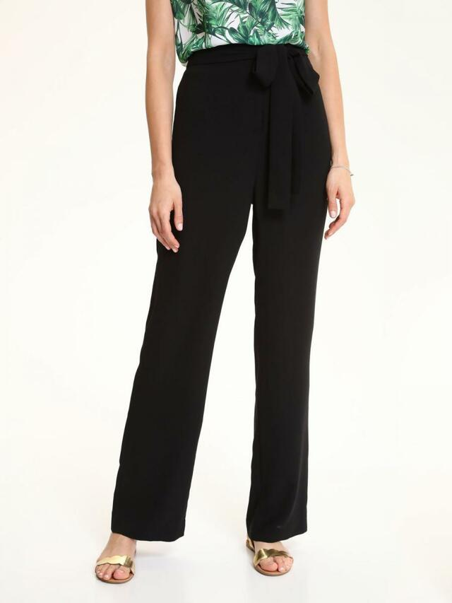 dc3924ca130 Top Secret Kalhoty dámské černé s širokými nohavicemi - 36