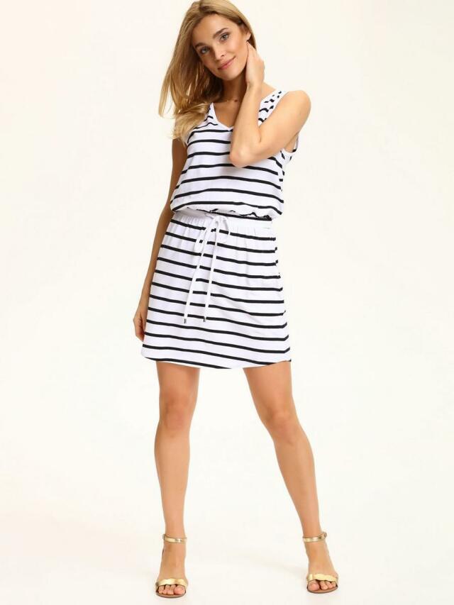 Top Secret šaty dámské bílé pruhované - 40 85a8ad4fe8
