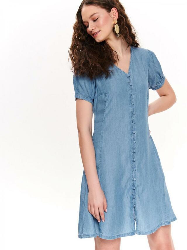 Top Secret Šaty dámské LYO jeans s krátkým rukávem - 40