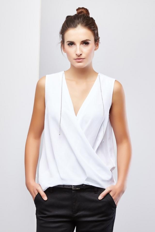 Moodo Košile dámská bez rukávu - S