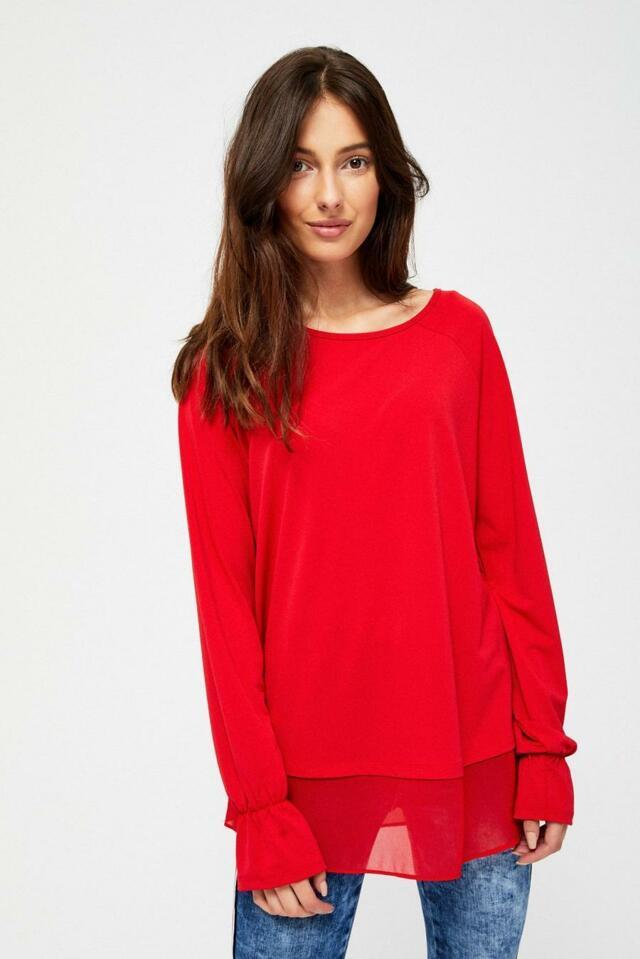 Moodo Košile dámská s dlouhým zavazovacím rukávem - XS