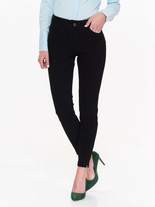 c0cd61a521d Top Secret Kalhoty dámské černé se zipy na spodním lemu - 36