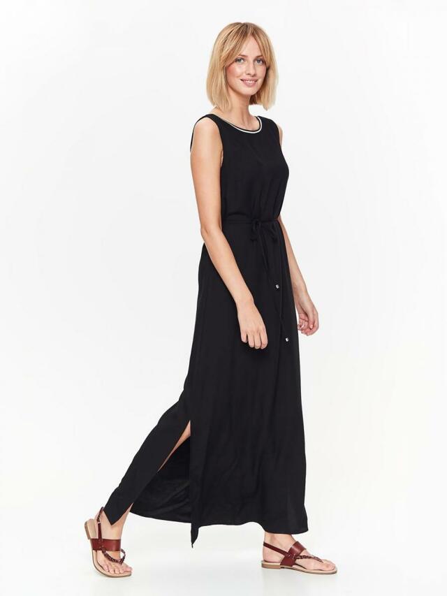 Top Secret šaty dámské dlouhé černé bez rukávu - 42