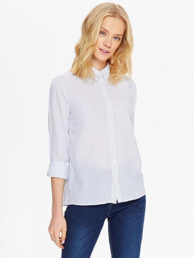 Top Secret Košile dámská bílá s drobným vzorem - 40
