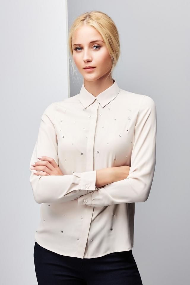 Moodo Košile dámská dlouhý rukáv - XS