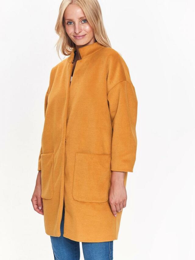 Top Secret Kabát dámský žlutý - 34