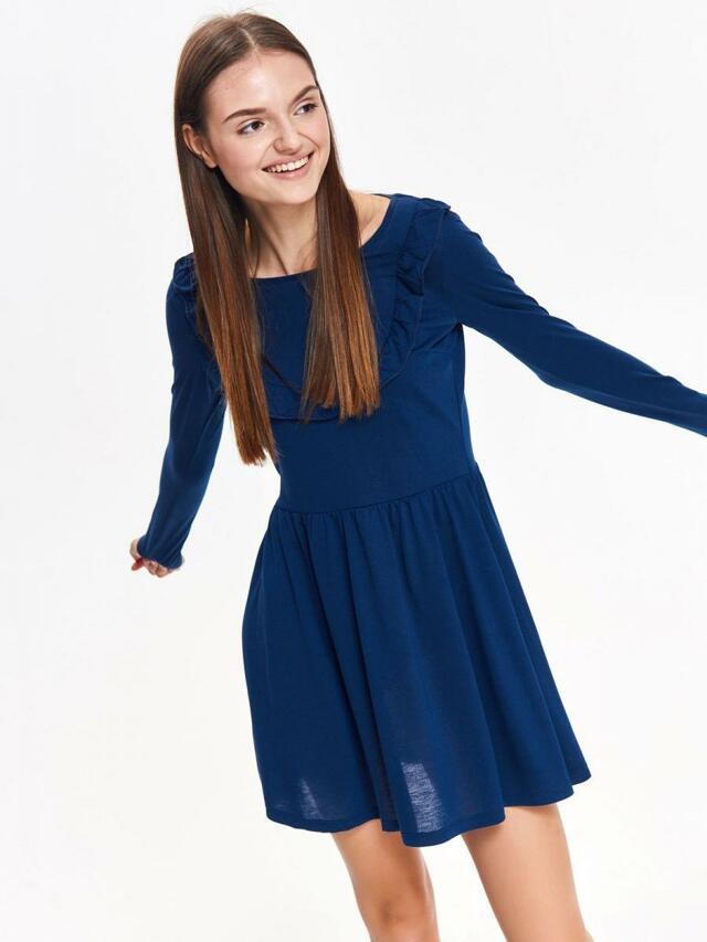 e9ec6daad78 Top Secret Šaty dámské tmavě modré s dlouhým rukávem - S