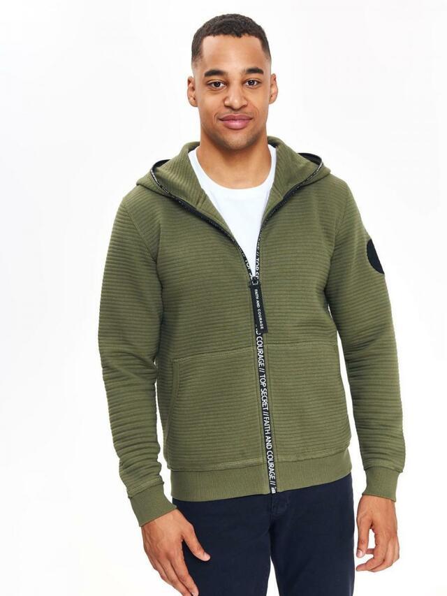 Top Secret Mikina pánská khaki s kapucí