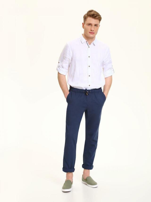 Top Secret Kalhoty pánské tmavě modré na gumu a stahovací šňůrku - 33
