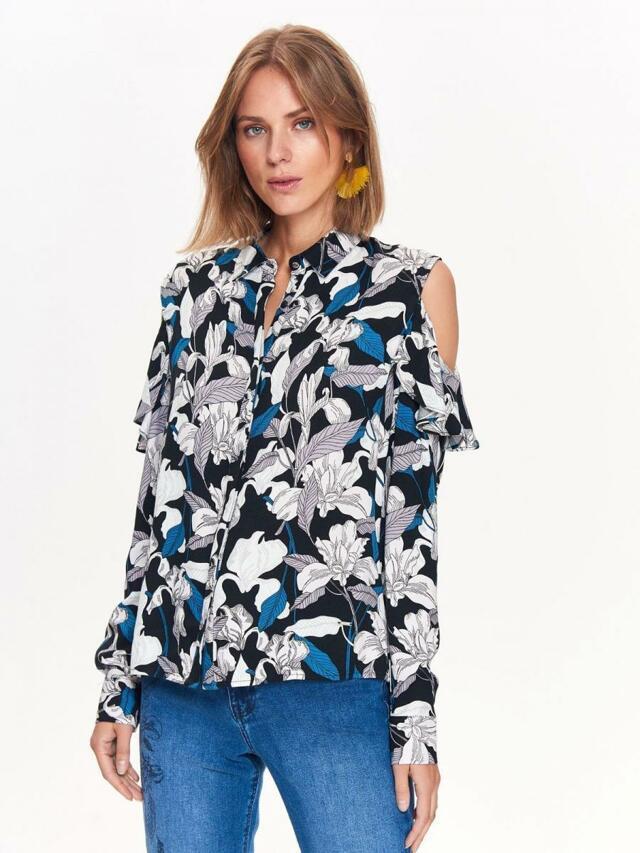 19f804064dad Top Secret Košile dámská květinová s dlouhým prostřiženým rukávem