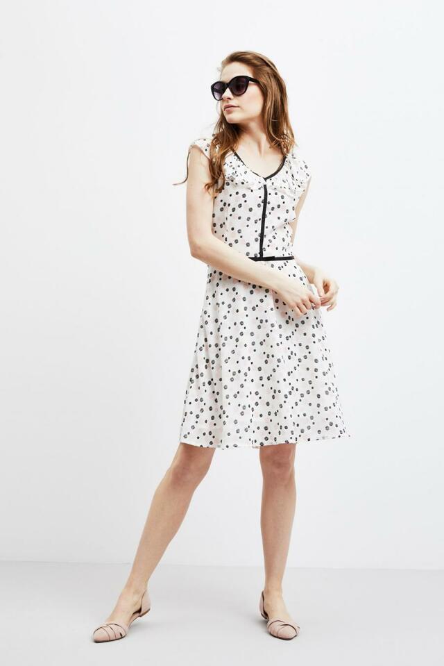 Moodo šaty dámské vzorované s krátkým rukávem