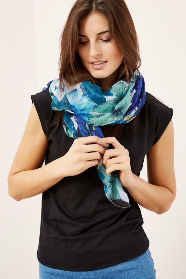 Moodo šátek dámský vzorovaný