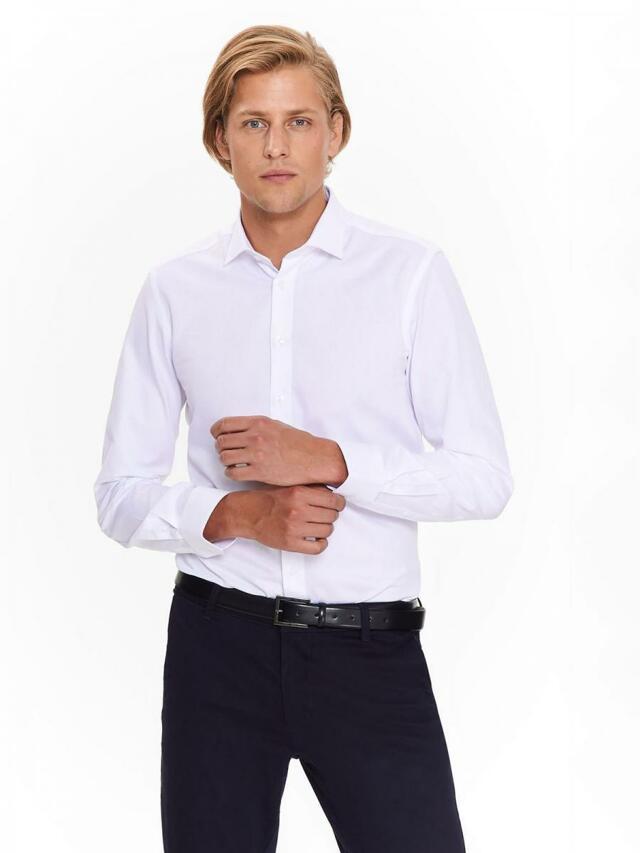 Top Secret Košile pánská bílá dlouhým rukávem