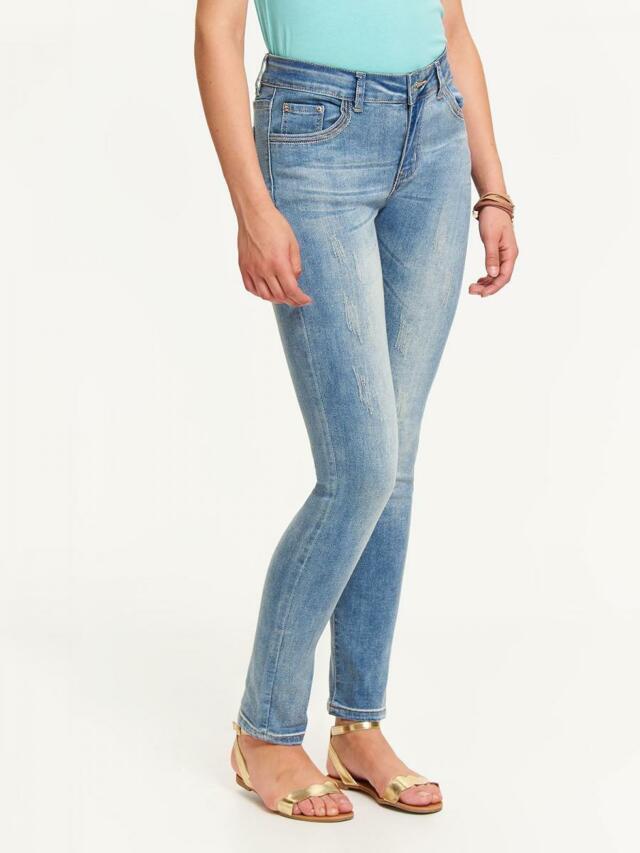 Top Secret Jeansy dámské světle modré - XS 42db25c8e0