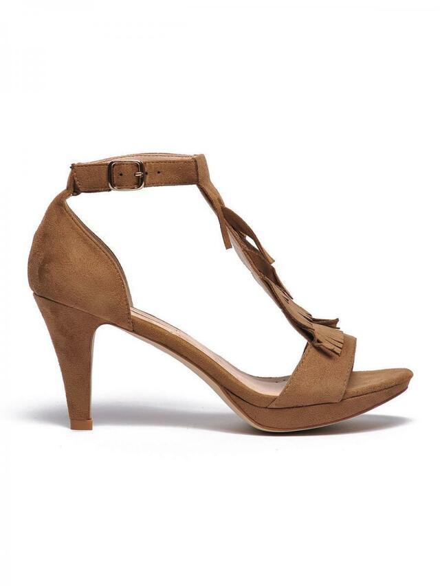 Top Secret Sandály dámské na podpatku béžové - 37