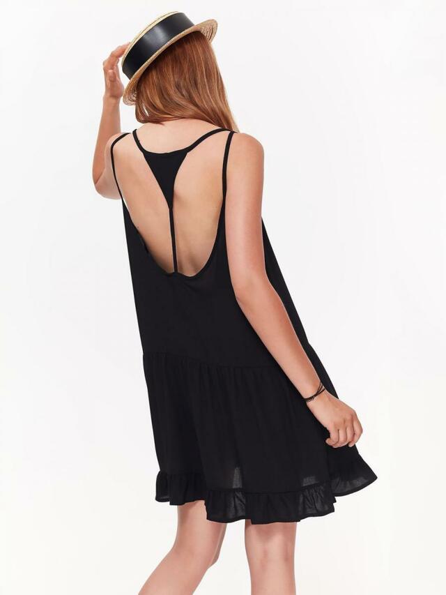 Top Secret šaty dámské černé s odhalenými zády - 42