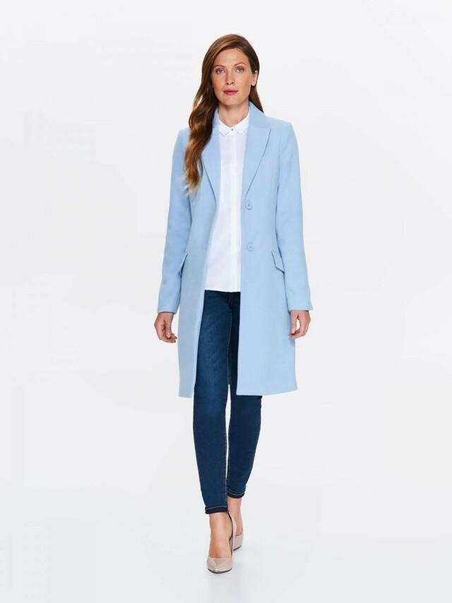 Top Secret Kabát dámský bledě modrý s klopou