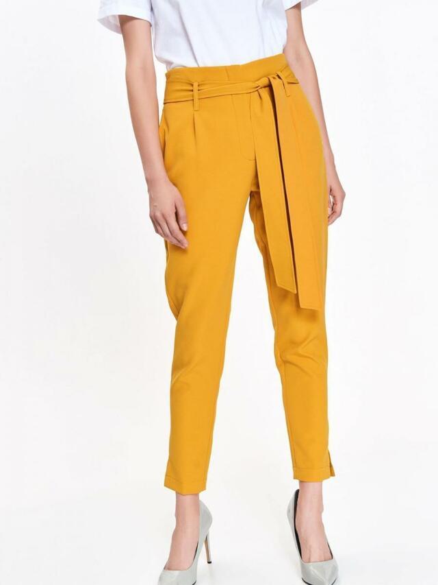 Top Secret Kalhoty dámské žluté s páskem - 34