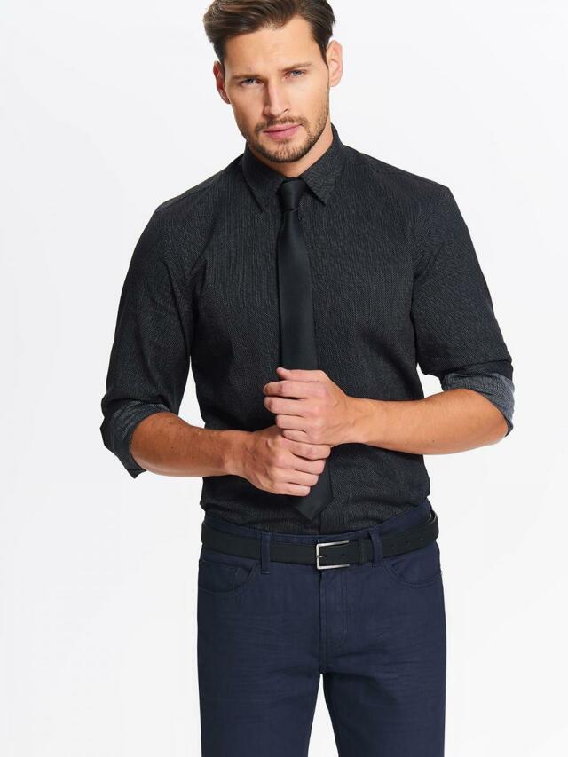 Top Secret Košile pánská se vzorem a dlouhým rukávem