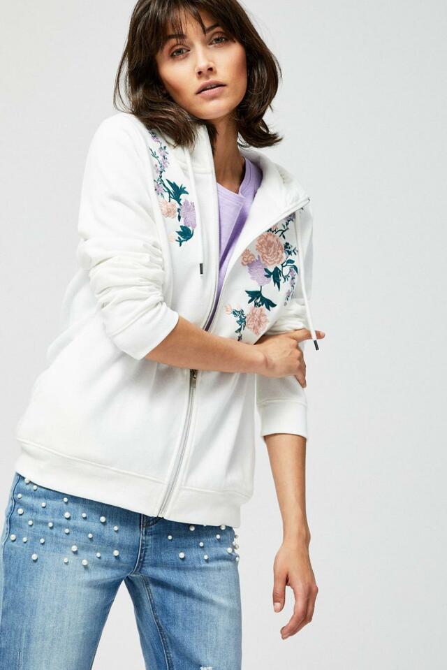 Moodo Mikina dámská FLOWER s kapucí na zip