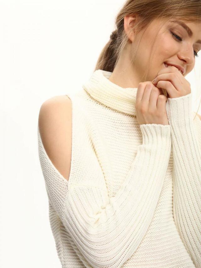 Top Secret Svetr dámský s průstříhy na ramenou dlouhý rukáv