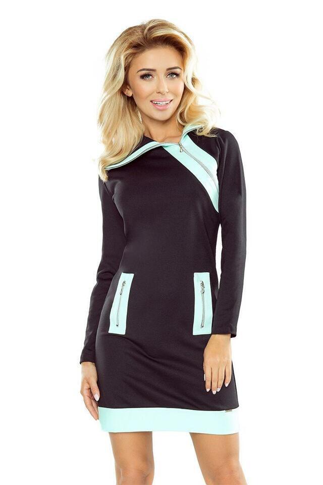 Numoco šaty dámské MIKOL krátké sportovní se zipem - XL